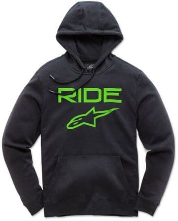 Alpinestars Casual Astars Ride 2.0 Fleece Pullover Hoodie - Black & Green